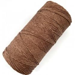 Sznurek lniany, 100% len, nici lniane, kolor jasny brązowy, 100g