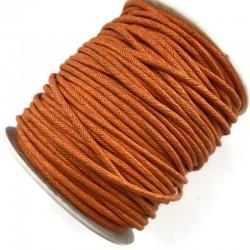 Indyjski Sznurek bawełniany woskowany 2mm - pomarańczowy(2)