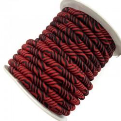 Sznurek poliestrowy ze wzorem 6 mm czerwony