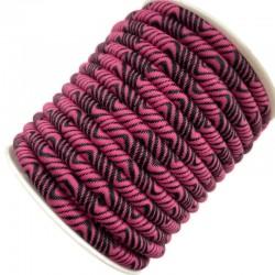 Sznurek poliestrowy ze wzorem 6 mm różowy