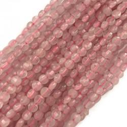 Kwarc różowy pastylka fasetowana 4~4.5x2.5~3 mm