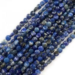 Lapis lazuli pastylka fasetowana 4~4.5x2.5~3 mm