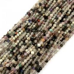 Kamienie mix kulki fasetowane 2,5-3,5mm sznurek