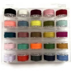 Nici nylonowe 0,1mm mix kolorów 25 szpulek