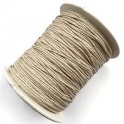 Sznurek bawełniany woskowany 1mm - beżowy