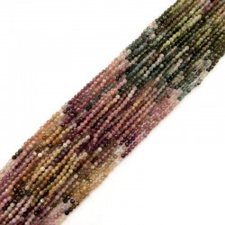 Turmalin cieniowany kulka fasetowana 2,5 mm