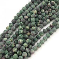 Agat kulka 8mm zielony sznurek