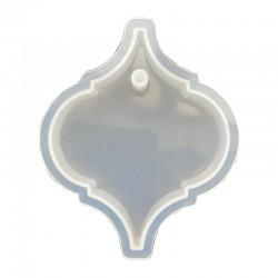 Forma do żywicy forma silikonowa do odlewów 7,5x6x1,2cm zawieszka