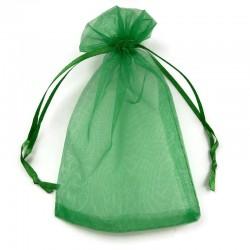 Woreczek z organzy w kolorze zielonym 15x10cm