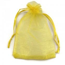 Woreczek z organzy w kolorze żółty 15x10cm