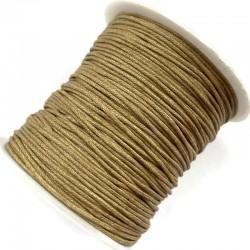 Sznurek bawełniany woskowany 1mm - ciemny beż