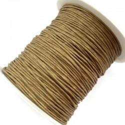 Sznurek bawełniany woskowany 1mm - kawowy