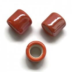 Przekładka ceramiczna walec 17x15mm pomarańcz