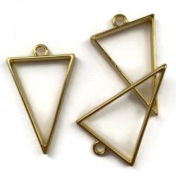 Zawieszka, Baza do żywicy 39x25mm trójkąt złota