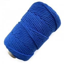 Sznurek Bawełniany Skręcany Makrama 5mm-100 metrów Naturalny Niebieski