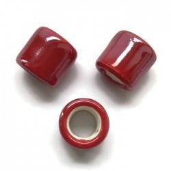 Przekładka ceramiczna walec 17x15mm czerwony