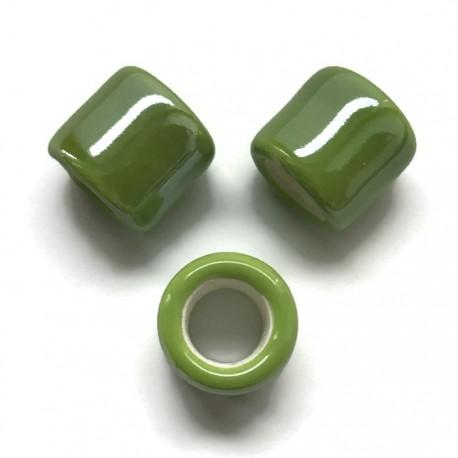 Przekładka ceramiczna walec 17x15mm zielony