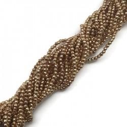 Hematyt kulka 3mm fasetowany ciemno złoty sznurek