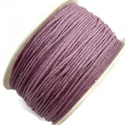 Sznurek bawełniany woskowany 1mm - jasny fioletowy