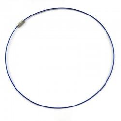 Baza naszyjnika,obroża struna z zapięciem wkręcanym 45cm - niebieska
