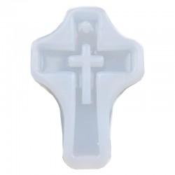 Forma do żywicy forma silikonowa do odlewów 57x40mm Krzyżyk