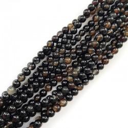 Agat czarny kulka gładka 6mm sznurek