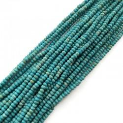 Jadeit oponka 4x3mm sznurek turkus