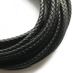 Rzemień syntetyczny pleciony 8mm - czarny