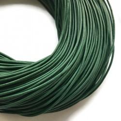 Rzemień naturalny okrągły 1,5mm - ciemno zielony