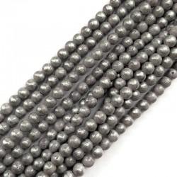 Jadeit szary ze srebrnym kulka 6mm gładka