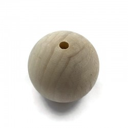 Koraliki drewniane surowe 58 mm