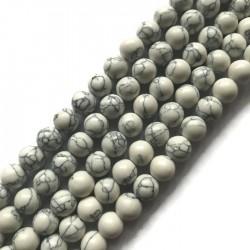 Howlit kulka 6mm biały sznurek