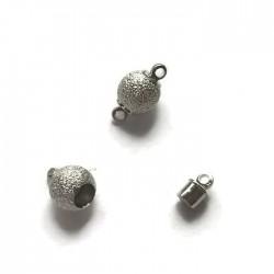 Zapięcie magnetyczne kulka 14x8mm cyna