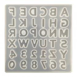 Forma do żywicy forma silikonowa do odlewów 135x135mm literki i liczby mix