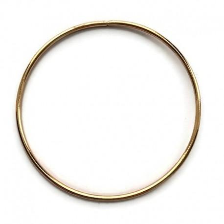 Złota Metalowa Obręcz do łapacza snów koło 30cm