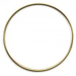 Złota Metalowa Obręcz do łapacza snów koło 40cm