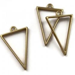 Zawieszka, Baza do żywicy 39x25mm trójkąt złoty mat