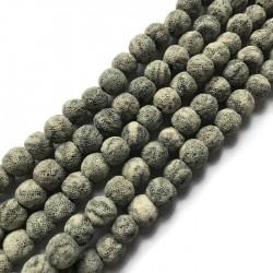 Lawa szara kulka 10mm sznurek