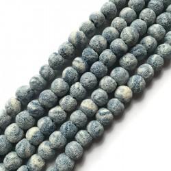 Lawa niebieska kulka 10mm sznurek