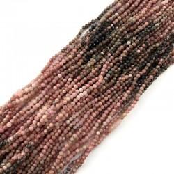 Rodonit kulka fasetowana 3mm sznurek mix