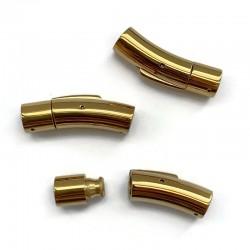 Zapięcie bagnetowe 30x8mm do wklejania stal nierdzewna złote zatrzaskowe