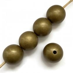 Koraliki drewniane lakierowane 30 mm złote