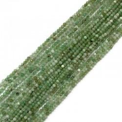 Jadeit australijski kulka fasetowana 2mm sznurek zielony