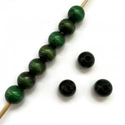 Koraliki drewniane lakierowane 12mm ciemny zielony